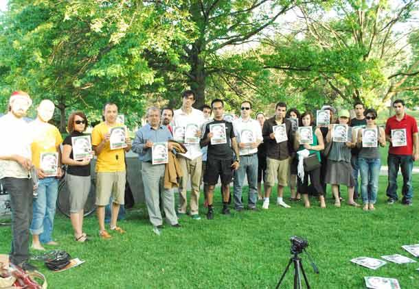 یوسفی اشکوری، دانشجویان تورنتو و همبستگی با مجید توکلی