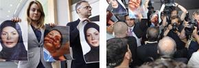 عکس های ندا در دست نمایندگان پارلمان اروپا