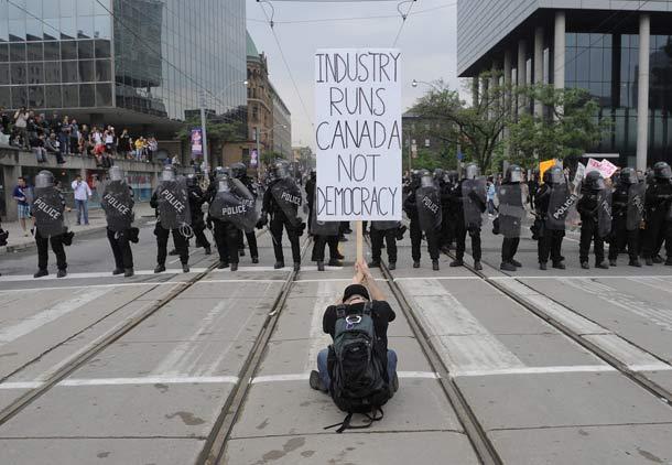 صدای بلند اعتراض مردم تورنتو علیه نشست گروه ۲۰