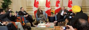 نشست رسانه های قومی با نخست وزیر کانادا/ حسن زرهی