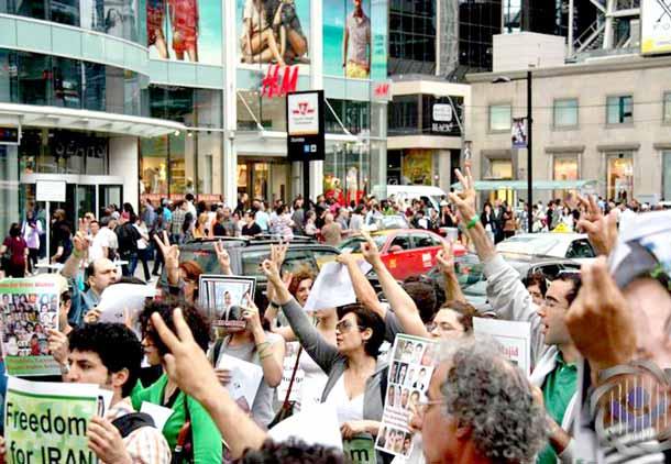 تورنتو در حمایت از زندانیان سیاسی ایران