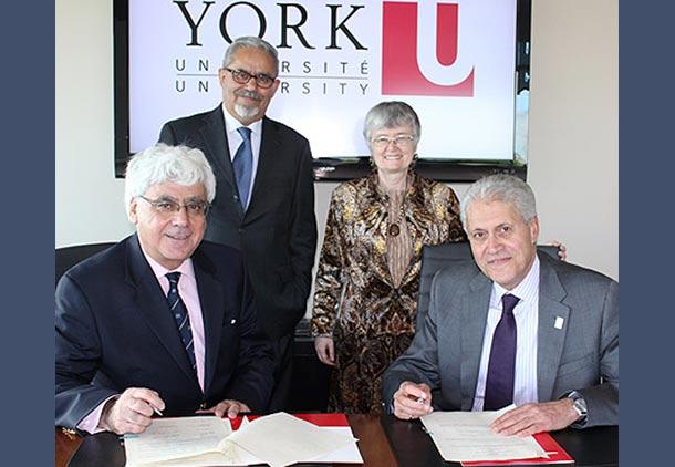 گسترش رابطه بین دانشگاه یورک و دانشگاه فلسطینی القدس