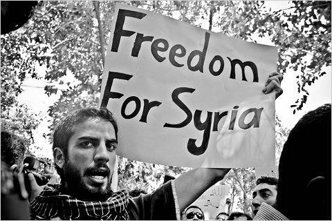 تظاهرات برای آزادی سوریه