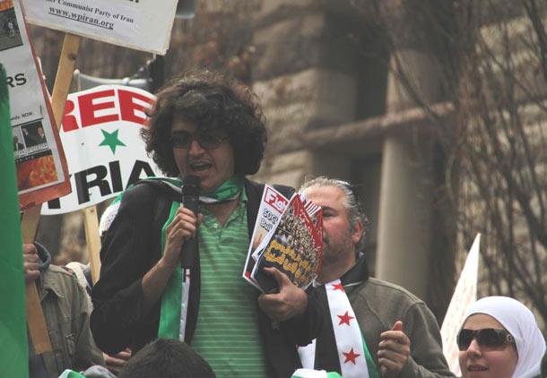 تظاهرات در بزرگداشت اولین سالگرد انقلاب سوریه/آرش عزیزی