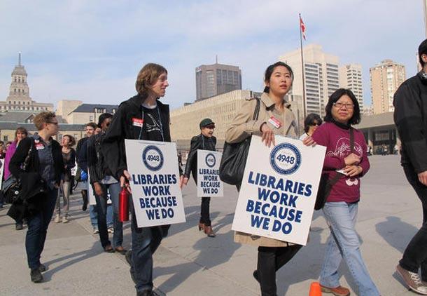 اعتصاب کارکنان کتابخانه های تورنتو