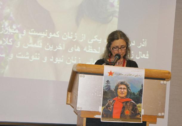 سخنرانی شهرزاد مجاب در مراسم یادبود آذر درخشان