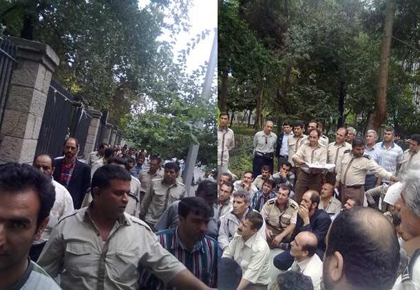 تجمع رانندگان شرکت واحد مقابل شورای شهر تهران