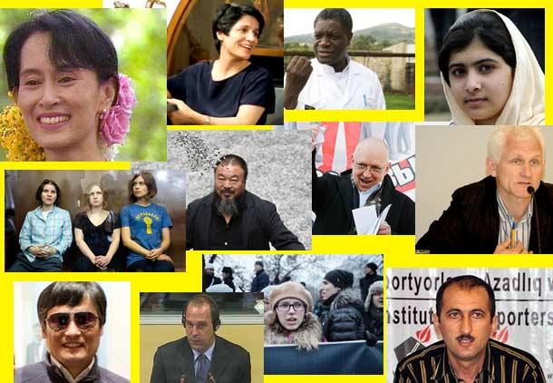 فعالان سرشناس حقوق بشر در سال ۲۰۱۲