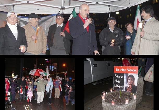 گردهمایی در تورنتو در حمایت از زندانیان سیاسی ایران