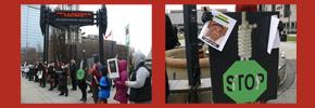 نه به اعدام در ایران؛گردهمایی اعتراضی در تورنتو