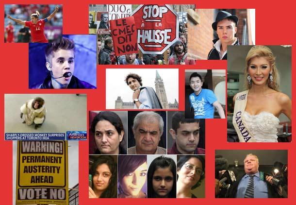 ده خبرساز کانادا در سال گذشته به انتخاب شهروند