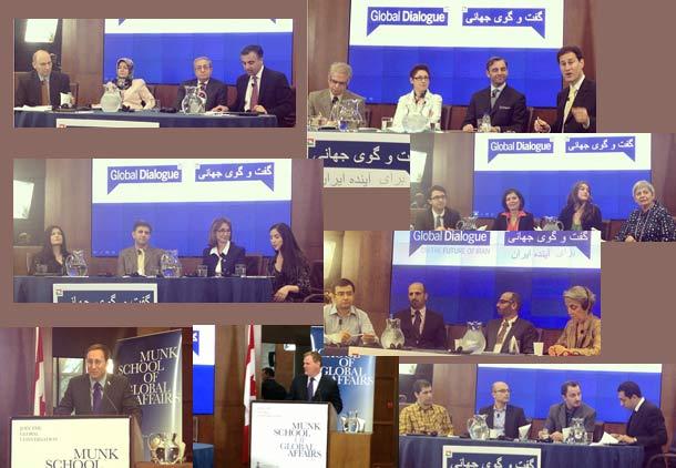 """کنفرانس """" گفت وگوی جهانی برای آینده ایران"""" در دانشگاه تورنتو"""
