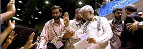 رئیس جمهوری با شال فلسطینی و چوب بستنی/میرزا تقی خان