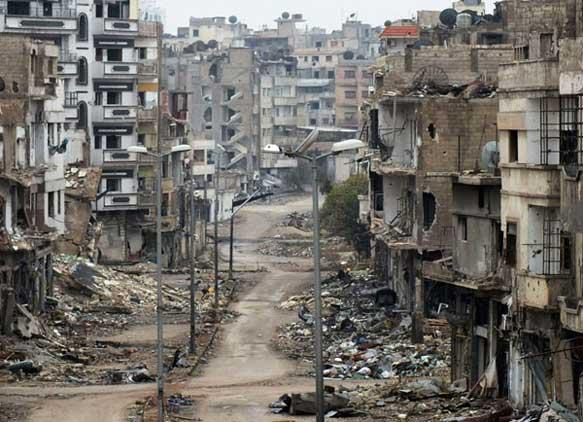 از سوریه جز ویرانه ای باقی نمانده