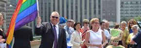 نخست وزیر انتاریو در رژه ی سالانه ی همجنسگرایان شرکت میکند
