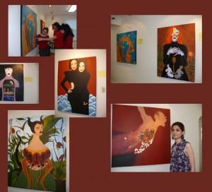 نمایشگاه نقاشی های آتوسا حکیمی در فرهنگخانه ایرانی