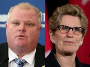 کاتلین وین نخست وزیر انتاریو ـ راب فورد شهردار تورنتو
