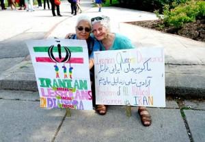 دو تن از ایرانیان در رژه غرور تورنتو