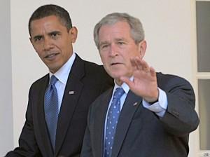 جرج بوش (راست) ـ باراک اوباما