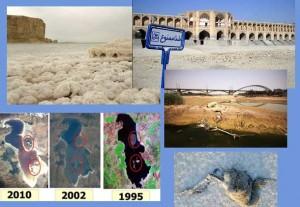 بسیاری از رودهای کشور به خشکی نشسته اند و دریاچه های بختگان، و اورمیه در حال نابودی هستند
