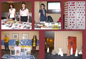 میزهای کتاب و نمایشگاه مجسمه های انوشه مشعوف