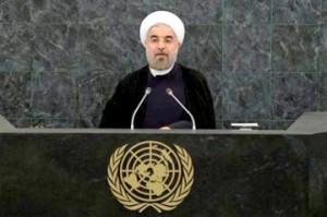 حسن روحانی رئیس جمهوری اسلامی ایران در سازمان ملل متحد