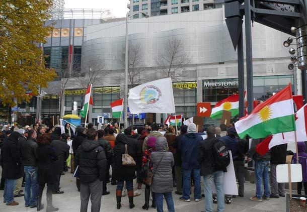 تظاهرات در تورنتو علیه اعدام های اخیر ایران/رضا