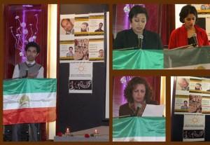 شیما رئیسی، آویده مطمئن فر، میترا صفاری و سلمان سیما در مراسم یادبود ستار بهشتی