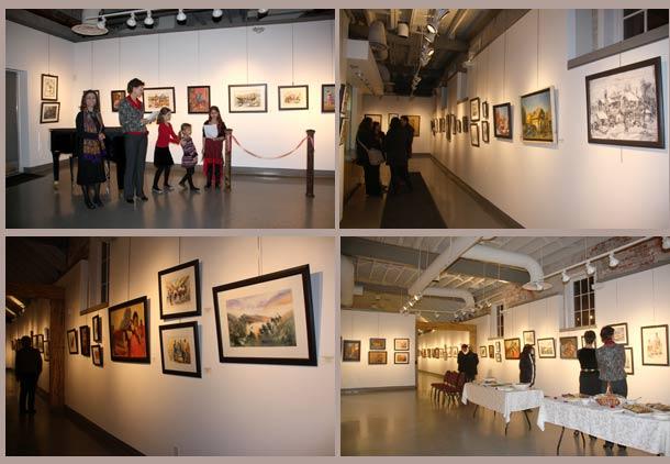 نمایشگاه نقاشی های مژگان ثابت سروستانی در تورنتو