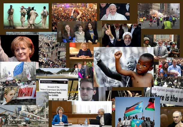 مهمترین رویدادهای جهان در سال ۲۰۱۳