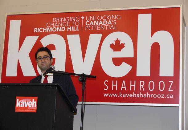 کاوه شهروز؛ گام های اولیه برای ورود  به جاده ی سیاست کانادا