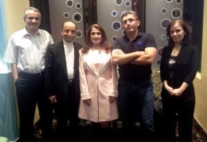 یاران جشنواره نوروزی نوا از راست: مینو شجره، فرداد فرشته هوش، سروش ایزدی، کمال طراوتی، محمد صالحی گیلانی