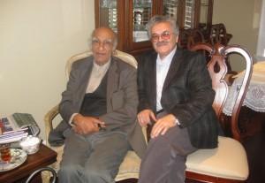 حسن گل محمدی در دیدار با استاد باستانی پاریزی