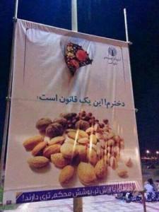 تابلوهای تبلیغ حجاب در خیابان های تهران
