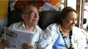 مارکز در نار همسرش