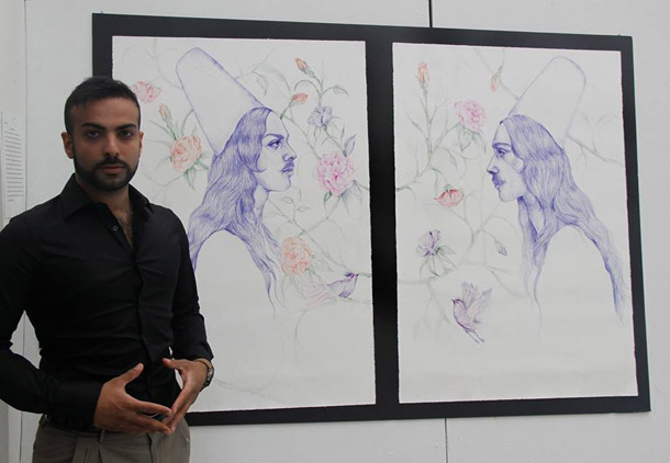 گفت وگو با ابرین باقری نقاش/ مهرنوش احمدی