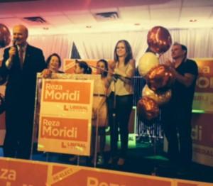 دکتر مریدی به همراه خانواده اش در جشن پیروزی اش