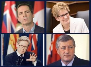 کاتلین وین، دالتون مک گینتی ، مایک هریس و باب ری نخست وزیران انتاریو در دو دهه اخیر