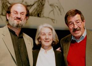 از راست: گونتر گراس ـ نادین گوردیمر ـ سلمان رشدی