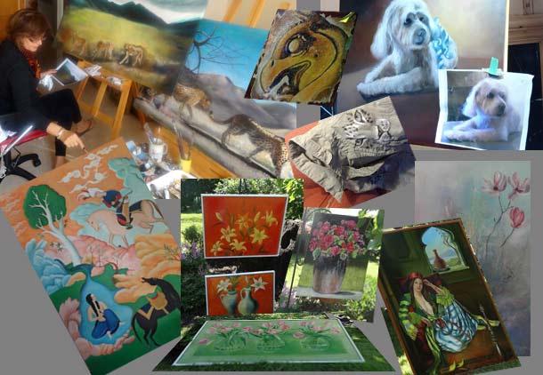 فروش آثار نقاشی برای جمع آوری کمک مالی برای پناهگاه شماره ۲ وفا در قزوین/ دوستداران وفا