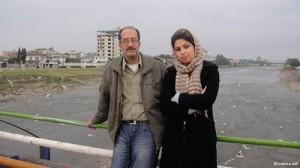 پورشجری در کنار دخترش
