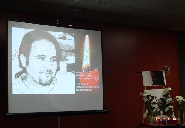 برگزاری مراسم بزرگداشت جمال حسینی در تورنتو/فرح طاهری