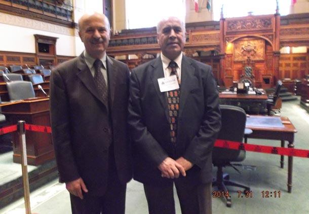 در پارلمان انتاریو با دکتر مریدی/اسد مذنبی