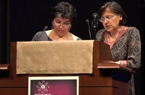 از راست: دکتر هوما احمد ـ گوش و سهیلا بنا