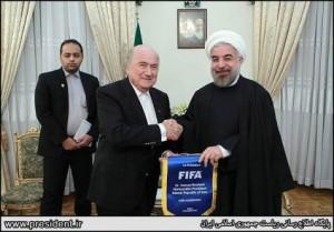 دیدار سپ بلاتر و حسن روحانی در تهران