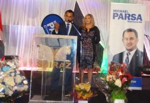 مایکل پارسا و همسرش والری پارسا