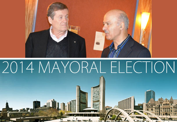 پشتیبانی دکتر مریدی از جان توری برای شهرداری تورنتو