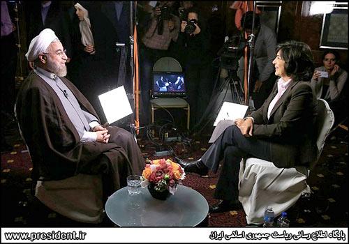 حسن روحانی رئیس جمهوری اسلامی ایران در مصاحبه با کریستین امانپور