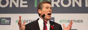 انتخاب جان توری به مقام شهرداری تورنتو