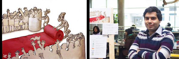 نمایشگاه کارتون های بهزاد غفاری زاده در مونترال
